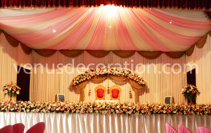 Christian Wedding Stage Decoration Pics : Venu s wedding planners stage decorations kerala india
