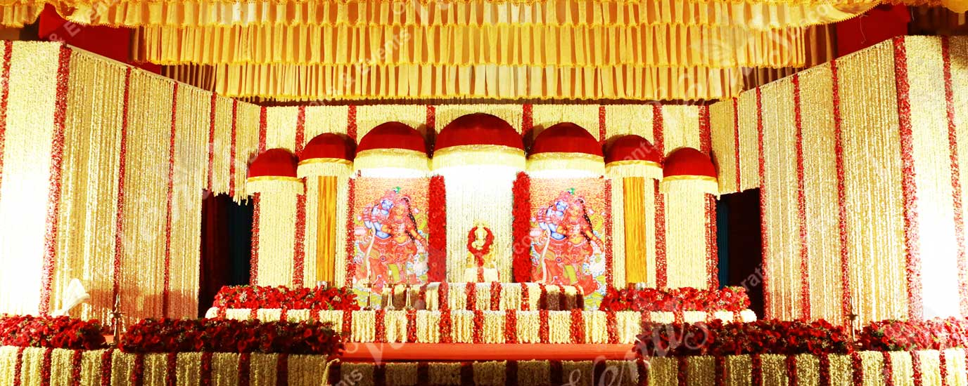 hindu weddind stage decoration