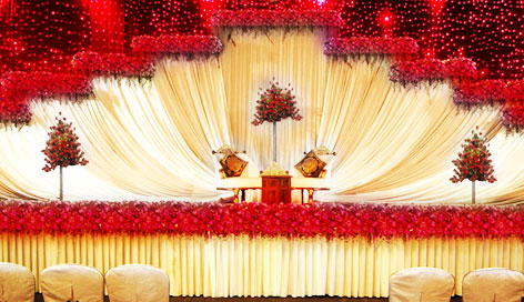 wedding stage decoration and arrangement